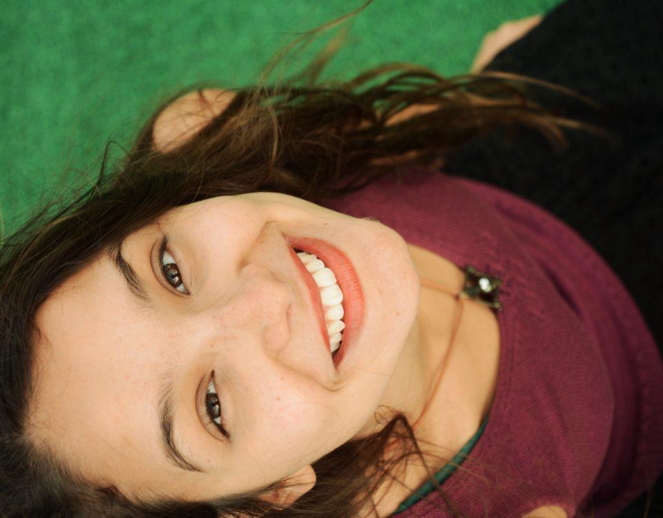 O tom do seu sorriso